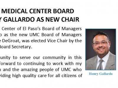 University Medical Center Board Elects Henry Gallardo As New Chair