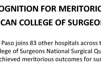 UMC Garners National Recognition For Meritorious Outcomes from the American College of Surgeons