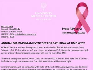 Annual MammoGlam Event Set for Saturday Oct. 19 at UMC West